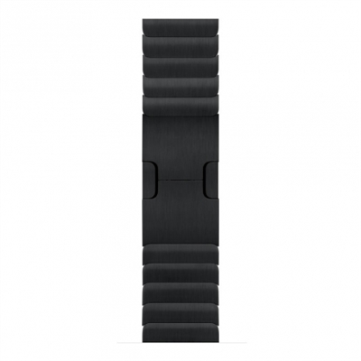 Apple MJ5H2ZM/A 38Mm Space Black Link Bracelet - Material: Acero; Color Primario: Negro; Tamaño De Caja: 38 Mm; Tipo De Correa: Ajustable
