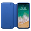 Apple MRGE2ZM/A - X Leather Folio - Electric Blue - Tipología Específica: Cover Folio Iphone; Material: Piel