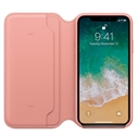 Apple MRGF2ZM/A - X Leather Folio - Soft Pink - Tipología Específica: Cover Folio Iphone; Material: Piel; Co