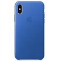 Apple MRGG2ZM/A - X Leather Case - Electric Blue - Tipología Específica: Cover Iphone; Material: Piel; Color