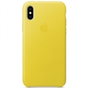 Apple MRGJ2ZM/A - X Leather Case - Spring Yellow - Tipología Específica: Cover Iphone; Material: Piel; Color