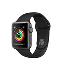 Apple MTF32QL/A - Apple Watch Series 3 GPS, 42mm Space Grey Aluminium Case with Black Sport Band