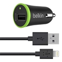 Belkin F8J121BT04-BLK - Belkin BOOST?UP Car Charger+Cable - Adaptador de corriente - automóvil - 12 vatios (USB (s