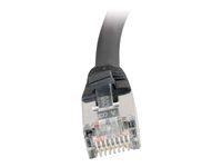 C2g 83850 C2G Cat5e Booted Shielded (STP) Network Patch Cable - Cable de interconexión - RJ-45 (M) a RJ-45 (M) - 1 m - STP - CAT 5e - moldeado - negro
