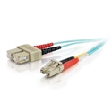 C2g 85532 - C2G LC-SC 10Gb 50/125 OM3 Duplex Multimode PVC Fiber Optic Cable (LSZH) - Cable de red - m