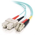 C2g 85533 - C2G LC-SC 10Gb 50/125 OM3 Duplex Multimode PVC Fiber Optic Cable (LSZH) - Cable de red - m