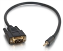 C2g 87187 - C2G Velocity DB9 Male to 3.5mm Male Adapter Cable - Cable serie - micrófono estéreo 3,5 mm