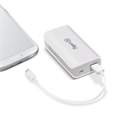 Celly PB4000WH - Power Bank 4000 Mah White - Color Primario: Blanco; Batería: 4.000 Mah; Voltaje De Salida:
