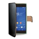 Celly WALLY436 - Funda Wally Xperia Z3 Compact Bk - Material: Similpelle; Color Primario: Negro / Naranja;