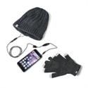 Celly WINTERKITGR - Gorro Auriculares Stereo Guantes Gr - Longitud Cable: 120 Cm; Color Primario: Gris; Diseña