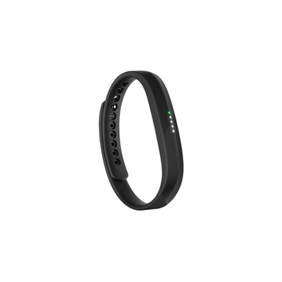 Fitbit FB403BK-EU Fitbit Flex 2. Tipo de dispositivo: Wristband activity tracker, Color del producto: Negro, Material de la carcasa: Elastómero, Acero inoxidable. Tecnología de conectividad: Inalámbrico. Duración de la batería: 5 día(s), Tecnología de batería: Polímero de litio, Tiempo de carga: 2 h. Peso: 23,5 g, Ancho: 8,9 mm, Profundidad: 6,8 mm. Sistemas operativos móviles soportados: Android 4.3, Android 4.4, Android 5.0, Android 5.1, iOS, Sistema operativo Windows soportado: Windows 10 Education,Windows 10 Education x64,Windows 10 Enterprise,Windows 10 Enterprise..., Sistema operativo MAC soportado: Mac OS X 10.6 Snow Leopard,Mac OS X 10.7 Lion,Mac OS X 10.8 Mountain Lion,Mac OS X 10.9 Mavericks