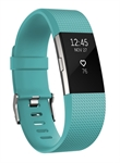 Fitbit FB407STEL-EU - Fitbit Charge 2. Tipo de dispositivo: Wristband activity tracker, Color del producto: Negr