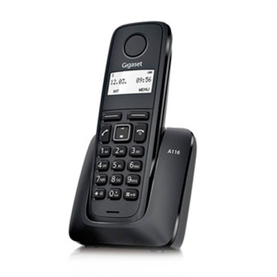 Gigaset S30852-H2801-R101 TELEF. INALAMBRICO DECT DIGITAL GIGASET A116 NEGRO S30852-H2801-R101
