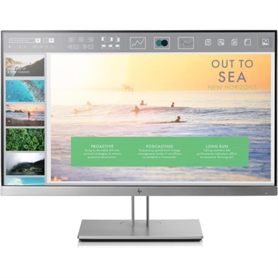 Hp 1FH46AA#ABB HP EliteDisplay E233 - Monitor LED - 23 - 1920 x 1080 Full HD (1080p) - IPS - 250 cd/m² - 1000:1 - 5 ms - HDMI, VGA, DisplayPort