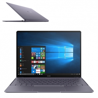 Huawei 53019689 Huawei Matebook X - Core i5 7200U - Win 10 Pro 64 bits - 8 GB RAM - 256 GB SSD - 13 IPS 2160 x 1440 (Full HD Plus) - HD Graphics 620 - Wi-Fi, Bluetooth - gris espacio