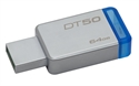 Kingston DT50/64GB - 64Gb Usb 3.0 Datatraveler 50 (Metal/Blue) - Capacidad: 64,00 Gb; Interfaz: Usb 3.1; Funció