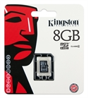Kingston SDC4/8GBSP - 8Gb Microsdhc Class 4 Flash Card Single Pack Sin Adaptador - Tipología: Micro Sd; Capacida