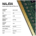 Nilox NXD2667M1C5 - Ram Ddr2 Dimm 2Gb 667Mhz Cl5 - Capacidad Total: 2 Gb; Frecuencia (Bus Clock Rate): 667 Mhz