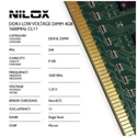 Nilox NXD4L1600M1C11 - Ram Ddr3l Dimm 4Gb 1600Mhz Cl11 - Capacidad Total: 4 Gb; Frecuencia (Bus Clock Rate): 1.60
