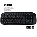 Nilox NXKBE000001 - Teclado Multimedia Usb Espanol - Interfaz: Usb; Color Principal: Negro; Disposición Del Te