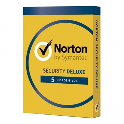 Norton 21355405 SOFTWARE NORTON SECURITY DELUXE 3.0 ES 1 USER 5 DEVIC SOFTW NORTON SECURITY DELUXE 3.0 ES 1 USER 5 DEVIC 1 AÑOS  1 USUARIO  5 DISPOSITIVOS 21355405