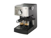 Philips HD8425/11 Saeco Poemia Manual Espresso HD8425 - Cafetera con cappuccinador - 15 bar - negro/acero inoxidable
