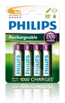 Philips R6B4A210/10 - Pilas Philips Recargable R-6 2100Mah Pack 4