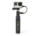 Quick-Media QMHGPB - QUICKMEDIA POWER GRIP MONOPOD con BATERIA integrada 5200Mah (QMHGPB)
