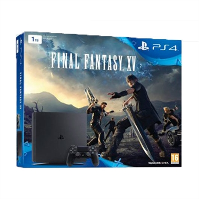 Sony 9811664 Ps4 Slim 1Tb + Final Fantasy - Capacidad De Disco Duro: 1.000 Gb; Color Principal: Negro; Número Máximo De Jugadores: 4
