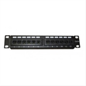 Standard 3002001 - Patch Panel 12 Puertos 10'' Utp Cat 6 Monolyth. Color: Negro.Dimensiones: 254X30x44 MmCara
