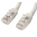 Startech N6PATC1MWH - Cable 1M Cat6 Snagless Blanco - Tipo Conector A: Rj-45; Tipo Conector B: Rj-45; Longitud: