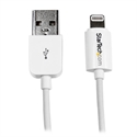 Startechcom USBLT1MW - El Cable Apple Lightning A Usb (Blanco) Para Iphone, Ipod E Ipad, Modelo Usblt1mw De 1 M,