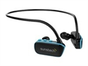Sunstech ARGOS4GBBL - Sunstech ARGOS - Reproductor digital en forma de auriculares - 4 GB - negro, azul