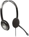 Audio Stdrd Headset Blk/Sil Stereo Headphones Microphone