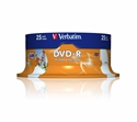 Verbatim 43538 - Verbatim Dvd -R 4.7Gb 16X Spindle 25 Imprimible Inkjet Superficie Blanca 120 Minutos Advan